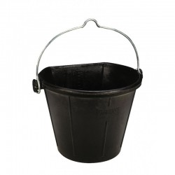 EKKIA Stalleimer, schwarzer Gummi, 17 Liter