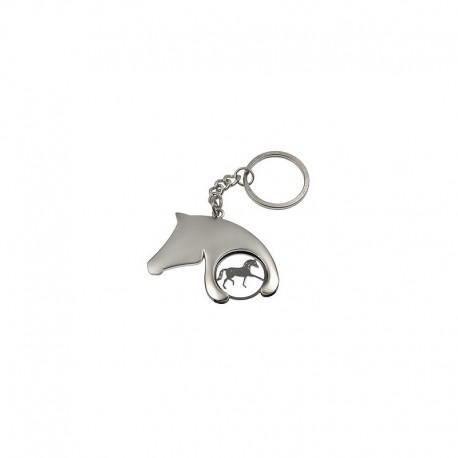 Schlüsselanhänger mit Einkaufschip, Pferdekopf