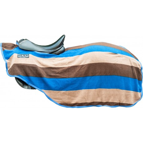 HKM Abschwitzdecke Colour Stripes mit Klett